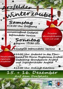 Arzfelder Winterzauber 2020 @ Dorfplatz Arzfeld
